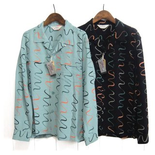 スター オブ ハリウッド STAR OF HOLLYWOOD[SH28123] オープンカラーシャツ WAVY STRIPES