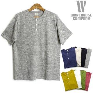 [メール便可]ウエアハウス WAREHOUSE [4601-HENLEY] 半袖ヘンリーTシャツ シャドーボーダー