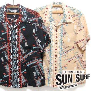 サンサーフ SunSurf [SS38323]2020年モデル 半袖 アロハシャツ S/S RAYON HAWAIIAN SHIRT
