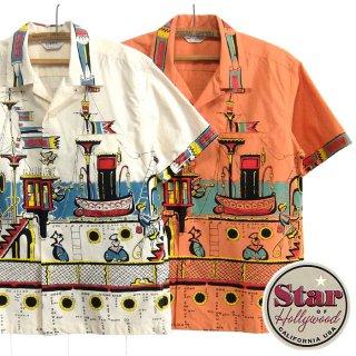STAR OF HOLLYWOOD スター オブ ハリウッド[SH38392]オープンカラーシャツ S/S BROAD COTTON SHIRT