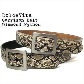 Dolce Vita レザーベルト ギャリソンベルト ダイアモンドパイソン 日本製 本革