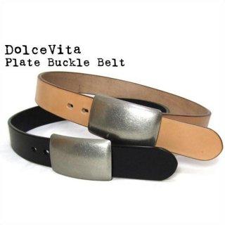 Dolce Vita レザーベルト プレートバックル ベルト 日本製 本革