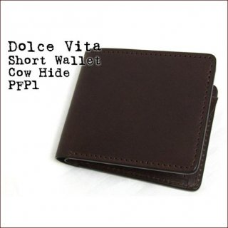 Dolce Vita 二つ折り 日本製 財布 本革 ショートウォレット カウハイド ブラウン(05)