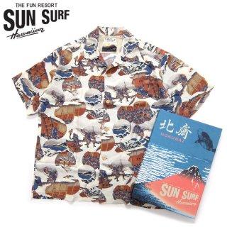 サンサーフ SunSurf [SS37918-105] SPECIAL EDITION 2018年モデル 半袖アロハシャツ 葛飾北斎『忠臣蔵討入』オフホワイト(105)