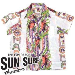SunSurf スペシャルエディション [SS35063] 2010年モデル ALOHA LEI BORDER アロハシャツ KILOHANA オフホワイト(105)