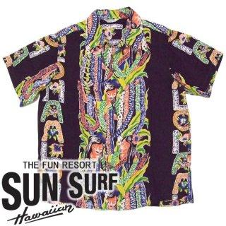 SunSurf スペシャルエディション [SS35063] 2010年モデル ALOHA LEI BORDER アロハシャツ KILOHANA ワイン(170)