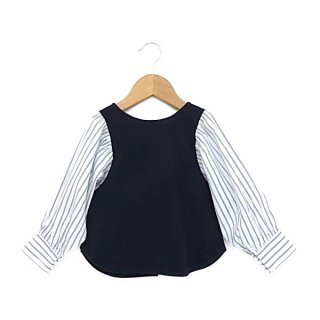 <img class='new_mark_img1' src='https://img.shop-pro.jp/img/new/icons20.gif' style='border:none;display:inline;margin:0px;padding:0px;width:auto;' />[30%OFF]STRIPE SLEEVE 2WAY CARDIGAN(95〜145cm)