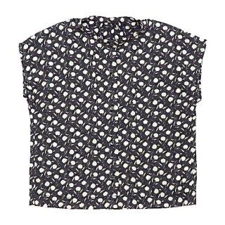Scarf print Flench sleeve Blouse(155-165cm)