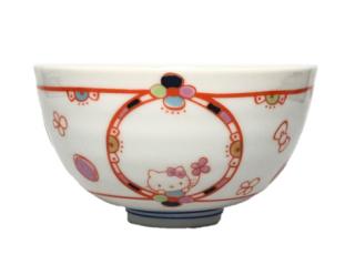 九谷焼お茶碗 ハローキティ 花バルーン