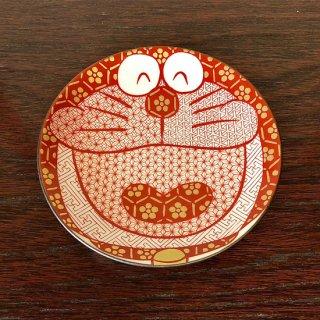 九谷焼豆皿 ドラえもん 赤絵