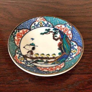 九谷焼豆皿 スヌーピー 山水