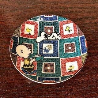 九谷焼豆皿 スヌーピー 石畳