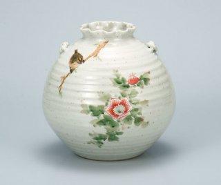 7号花瓶 花鳥