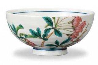 九谷焼飯碗 花海棠(4月) 12ケ月の花シリーズ