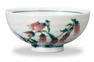 九谷焼飯碗 蛍袋(8月) 12ケ月の花シリーズ
