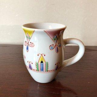 九谷焼マグカップ 花のプリンセス 銀舟窯