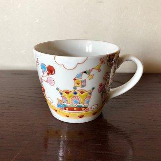 九谷焼マグカップ 王様の遊行 銀舟窯
