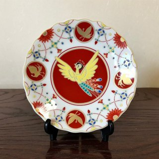 九谷焼銘々皿 手�シリーズ 火の鳥