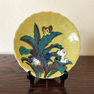 九谷焼銘々皿 手�シリーズ ジャングル大帝レオ
