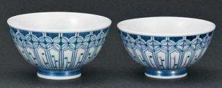 九谷焼組飯碗 七宝文 和陶房