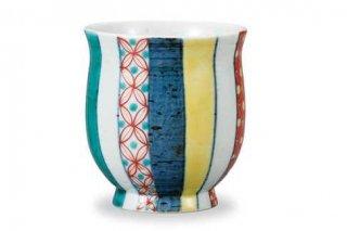 九谷焼湯呑 色絵小紋 和陶房