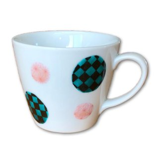 九谷焼マグカップ 和文様 丸紋