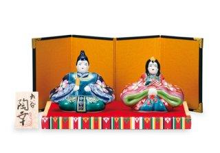 雛人形(3号) 紺赤桜花紋