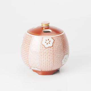 香炉(3.3号) 赤絵細描小紋手/林美佳里