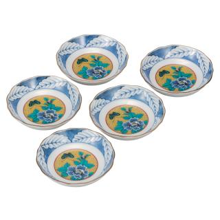皿揃(3.2号) 吉田屋牡丹