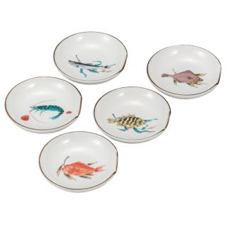 箸置小皿揃(3号) 魚文