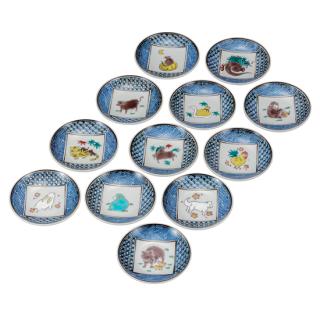 皿揃(3.2号) 十二支