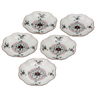 皿揃(5.2号) 色絵牡丹/銀泉窯