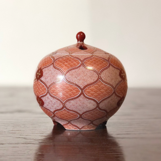 香炉(3.2号) 赤絵小紋づくし/林美佳里
