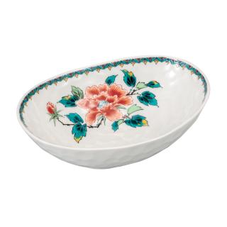 たまご鉢(6号) 赤牡丹