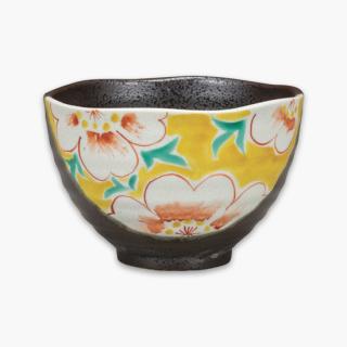 茶漬碗 花紋 黄色