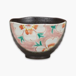 茶漬碗 花紋 ピンク
