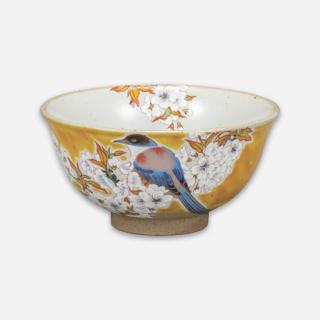 飯碗 吉田屋山桜に鳥