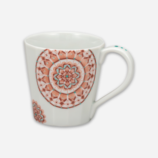 マグカップ 赤絵丸紋/大志窯