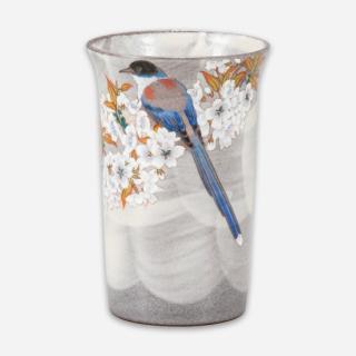 フリーカップ 山桜に鳥