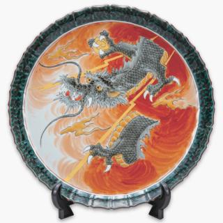 飾皿(10号) 昇龍/福田良則