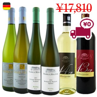 送料無料 SPECIAL PRICE<br>【ドイツワイン6本セット】<br>有名3地所から クラッシックな赤白ワイン<br>バラエティセット
