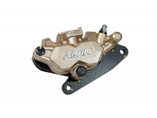 NISSIN製・ニッシン 2POTキャリパー 金 GROM グロム MSX125 モンキー125/MONKEY125 NSR50 NS-1対応