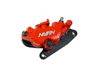 NISSIN製・ニッシン 2POTキャリパー 赤 GROM グロム MSX125 モンキー125/MONKEY125 NSR50 NS-1対応