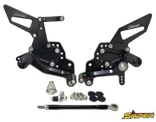 GSX-R125 GSX-R150 GSX-S125 GSX-S150 バックステップ黒 ABS対応4ポジション+ レーシング用6ポジション