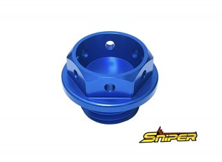 ホンダ アルミ製 オイルフィラーキャップ 青 M20 x P2.5 汎用