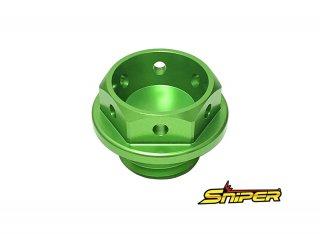 DUCATI アルミ製 オイルフィラーキャップ 緑 M20 x P2.5 汎用
