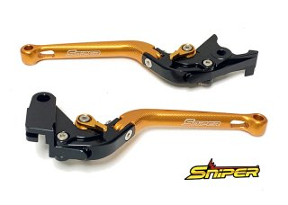 モンキー125 GROM CB250R CBR250R CBR400R 6段階アジャスター 可倒式 クラッチレバー&ブレーキレバー 金