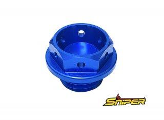 スズキ アルミ製 オイルフィラーキャップ 青 M20 x P1.5 汎用