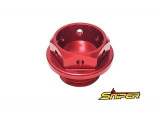 スズキ アルミ製 オイルフィラーキャップ 赤 M20 x P1.5 汎用