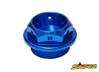 カワサキ スズキ アルミ製 オイルフィラーキャップ 青 M30 x P1.5 汎用